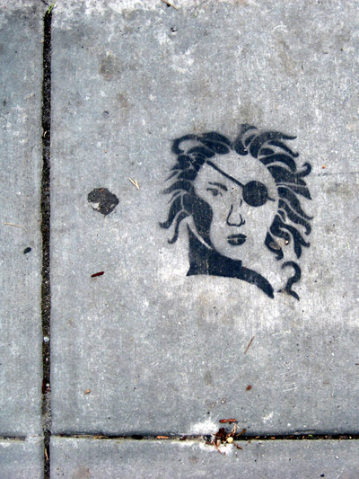 Captain Hook Stencil Graffiti