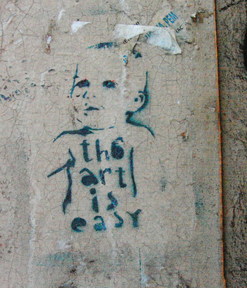 Stencil St. Petersburg Russia - The art is easy
